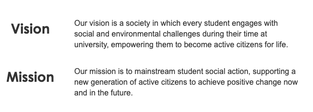 Student Hub's Vision and Mission
